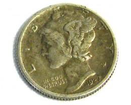 USA COIN L1, 1927 ONE DIME SILVER COIN T1246