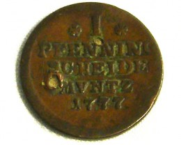 GERMANY COIN L1, 1777 1 PFENNING COIN T1267