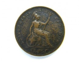 GB FARTHING 1826      OP386