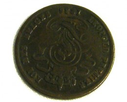 BELGIUM COIN L1, 1836 TWO CENT COIN T1283