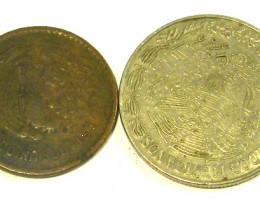 MEXICO COIN L2, 1979 ONE DOLLAR & 1954 FIVE CENT COINS T1294