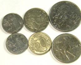 ITALY COIN L6, 1942-1998 C.20 , L.50 , L.100  COINS T1306
