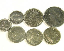 ITALY COIN L7, 1940-1995 C.20, L.50, L.100 COINS T1307