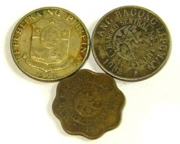 PHILIPPINES COIN L3, 1971-1982 25 & 5 CENT COINS T1311