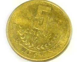 DE COSTA RICA COIN L1, 1999 FIVE COLONES COIN T1329