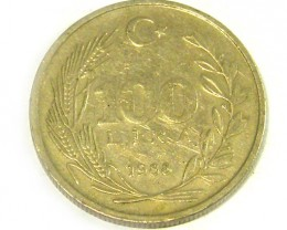 TURKEY COIN L1, 1988 L.100 COIN T1325
