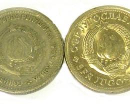 YUGOSLAVIA COIN L2, 1965-1978 ONE DINAR COINS T1334