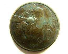 ITALY 10 C  1929     OP394
