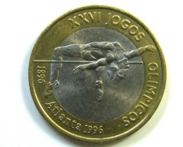 BI METAL COIN PORTUGAL  OLYMPICS 1996  T1344