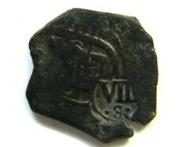 Spanish Maravedis Cob 16th C   f-12 Philip II, III, IV AC375