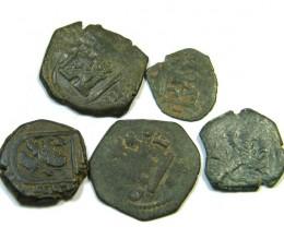 Parcel  Maravedis Cob 16-17thCent   Philip II, III, IV AC411