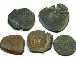 Parcel  Maravedis Cob 16-17thCent   Philip II, III, IV AC416