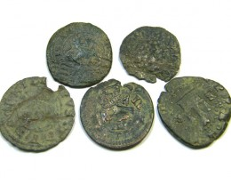 Parcel  Maravedis Cob 16-17thCent   Philip II, III, IV AC401