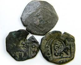 Parcel  Maravedis Cob 16-17thCent   Philip II, III, IV AC419