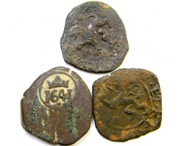Parcel  Maravedis Cob 16-17thCent   Philip II, III, IV AC422