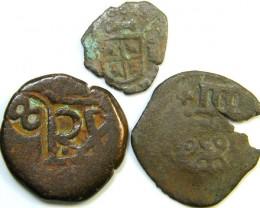 Parcel  Maravedis Cob 16-17thCent   Philip II, III, IV AC424