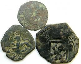Parcel  Maravedis Cob 16-17thCent   Philip II, III, IV AC426