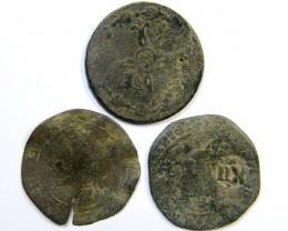 Parcel  Maravedis Cob 18 thCent   Philip II, III, IV AC431