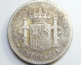 SILVER SPANISH COIN   20 CENT  1904   CO 43