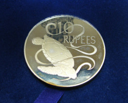SILVER PROOF RUPELES COIN  1974   CO 45