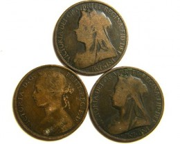 PARCEL THREE ONE PENNY COINS   OP 424