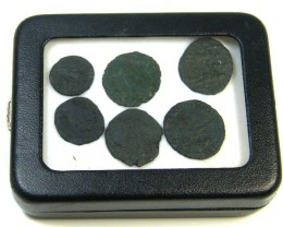 COLLECTION OF 6 ANCIENT ROMAN COINS  AC 437