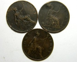 PARCEL THREE ONE PENNY COINS   OP 426