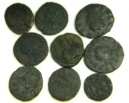COLLECTION OF 9 ANCIENT ROMAN  COINS  AC 438
