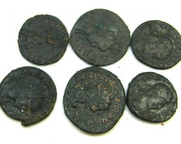 COLLECTION OF 6 ANCIENT COINS  AC 439