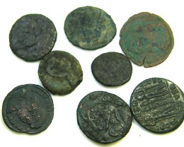 COLLECTION OF 8 ANCIENT ROMAN COINS  AC 440