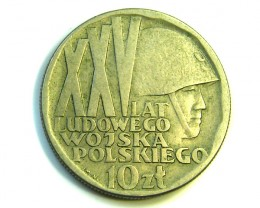 POLAND 10 ZT COIN    1968  J331