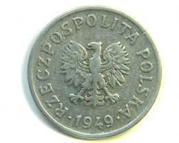POLAND 1940  20 GROSZY COIN   J334