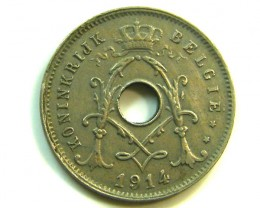 5 CENTS BELGIUM 1914  COIN   J340