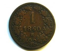 AUSTRIA 1860  COIN   J341