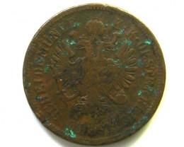 AUSTRIA  1861 4 RL COIN   J343