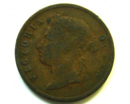 STRAITS SETTLEMENT 1883  I CENT COIN   J344