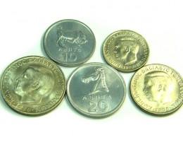 UNC SET OF 5 1970 GREEK COINS    J 363