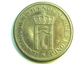 1951 1 KRONE NORWAY COIN  J 381