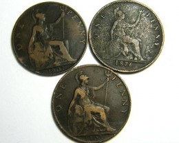 PARCEL THREE ONE PENNY COINS   OP 434