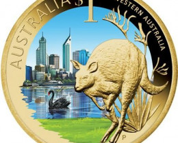 2009 CELEBRATE WESTERN AUSTRALIA COIN   OFFICAL LIST PRICE