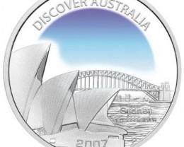 Discover Australia 2007 Sydney 1oz Silver Coin