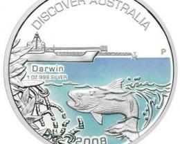 Discover Australia 2008 Darwin 1oz Silver Coin