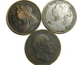 PARCEL THREE ONE PENNY COINS   OP 438