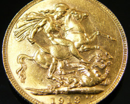PERTH 1913 GOLD SOVERIGN  COIN    CO 129