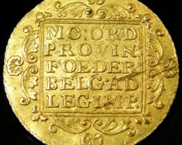 NETHERLAND -UTRECHT GOLD DUCAT COIN 1804  CO 137