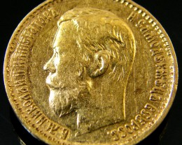 RUSSIA 1898 5 ROUBLES GOLD COIN    CO150
