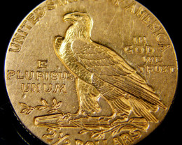 2 1/2 DOLLAR GOLD 1/4 EAGLE 1914 COIN    CO 154