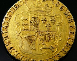 SCARCE  GOLD GUINEA 1786 GOLD COIN    CO 164