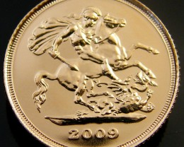 GOLD  COIN  HALF  SOVERIGN 2009     CO 171