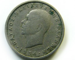 1954  GREECE COIN   J 421